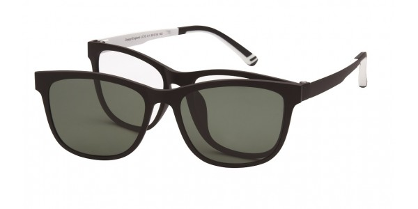 London Club LC 10 Black & White with Detachable Magnetic Sunglass