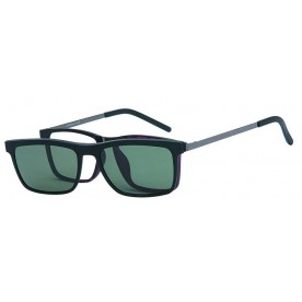 London Club LC 102 Black with Detachable Magnetic Sunglass