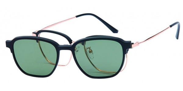 London Club LC 109 Black and Gold with Detachable Magnetic Sunglass