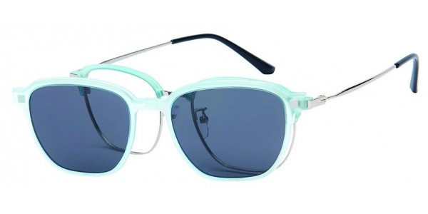 London Club LC 109 Turquoise and Silver with Detachable Magnetic Sunglass