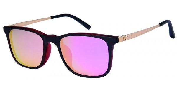 London Club LC 57 Black and Red with Detachable Magnetic Sunglass