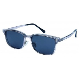 London Club LC 92 Clear & Silver with Detachable Magnetic Sunglass