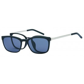 London Club LC 104 Black and Silver with Detachable Magnetic Sunglass