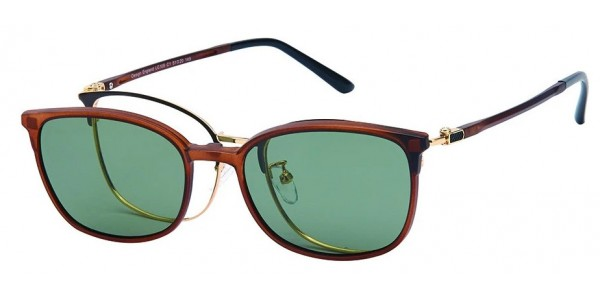 London Club LC 105 Brown and Gold with Detachable Magnetic Sunglass