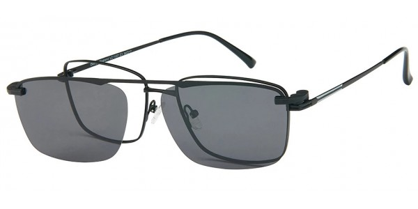 London Club LC 1137 Black with Detachable Magnetic Sunglass