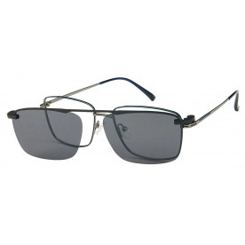 London Club LC 1137 Gunmetal with Detachable Magnetic Sunglass