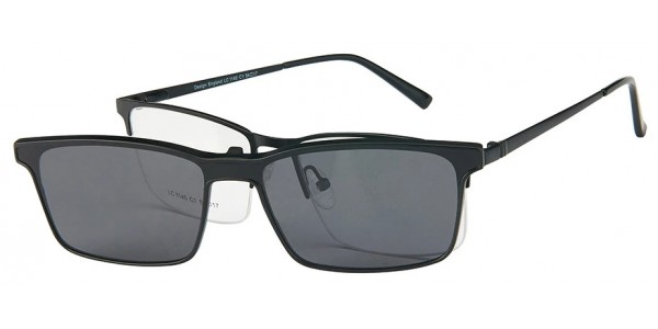 London Club LC 1140 Black with Detachable Magnetic Sunglass