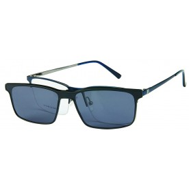 London Club LC 1140 Blue & Gunmetal with Detachable Magnetic Sunglass