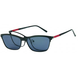 London Club LC 1141 Black & Red with Detachable Magnetic Sunglass