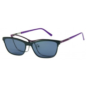 London Club LC 1141 Purple & Gunmetal with Detachable Magnetic Sunglass