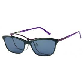 London Club LC 1141 Purple & Gunmetal with Detachable Magnetic Sunglass
